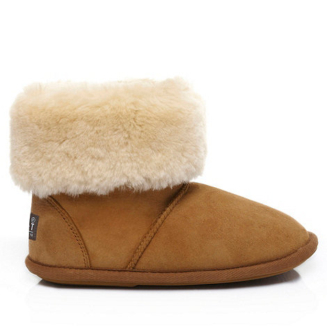 Just Sheepskin - Tan +Albery+ sheepskin slipper boots