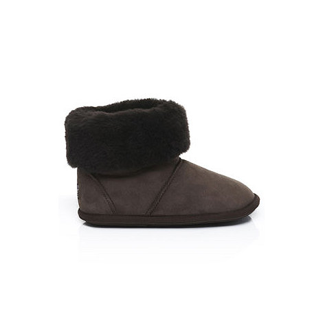Just Sheepskin - Dark brown  +Albery+ sheepskin slipper boots