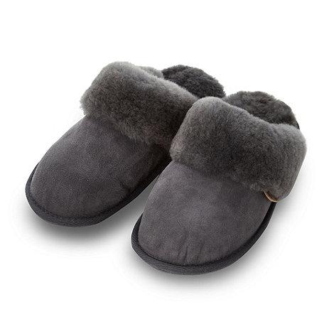Just Sheepskin - Grey sheepskin mule slippers