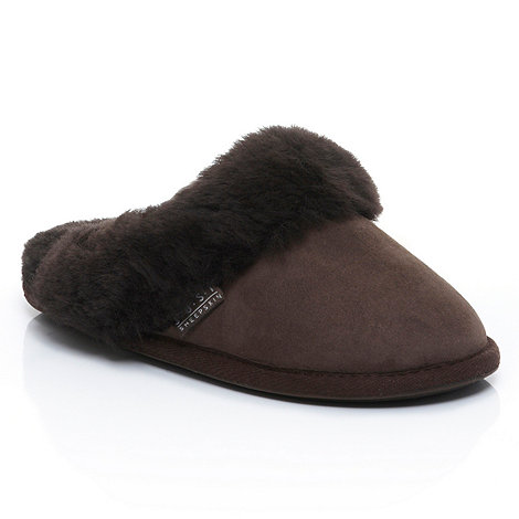Just Sheepskin - Dark brown +Duchess+ sheepskin slippers