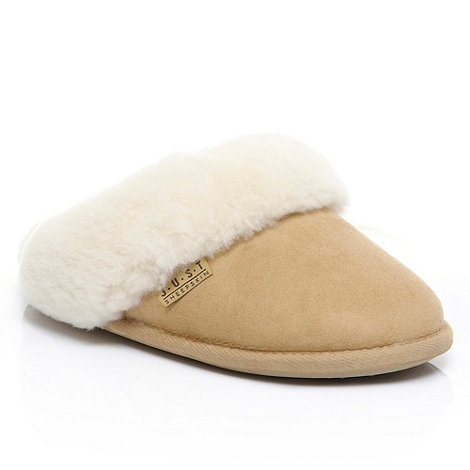 Just Sheepskin - Beige 'Duchess' sheepskin slippers