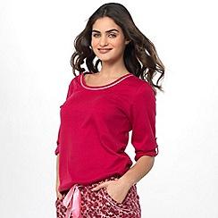 Cyberjammies - Red knit 3/4 sleeves top