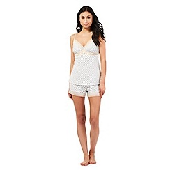 J by Jasper Conran - White diamond print pyjama cami and shorts set