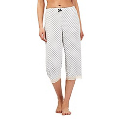 J by Jasper Conran - White diamond print cropped pyjama bottoms