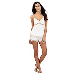 J by Jasper Conran - Cream lace detail pyjama cami and shorts set