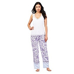 RJR.John Rocha - White and paisley print pyjama set