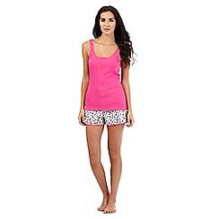 Lounge & Sleep - Pink and animal print pyjama set