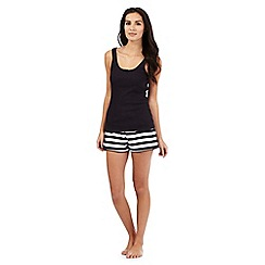 Lounge & Sleep - Black and white striped pyjama set