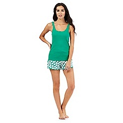 Lounge & Sleep - Green and spot print pyjama set