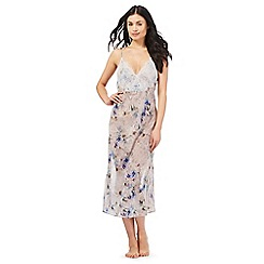 The Collection - Grey floral print chiffon nightdress