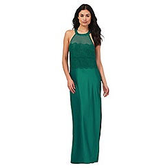 The Collection - Green satin halter neck nightdress