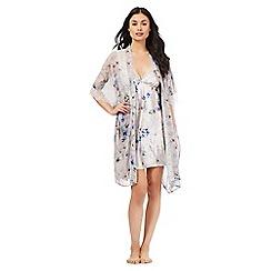 The Collection - Grey floral print chiffon kimono