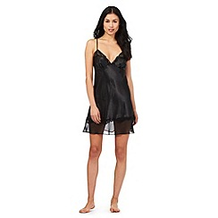 The Collection - Black satin swing chemise