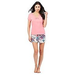 Lounge & Sleep - Pink lace trim pyjama top