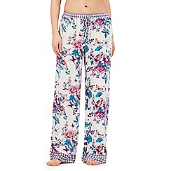Lounge & Sleep - Multi-coloured floral butterfly print pyjama bottoms