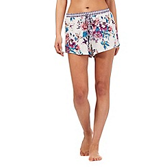Lounge & Sleep - Multi-coloured floral print pyjama shorts