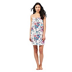 Lounge & Sleep - Multi-coloured floral butterfly print chemise