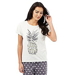 Lounge & Sleep - Grey pineapple print sleep tee