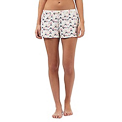 Lounge & Sleep - Multicoloured zigzag print pyjama shorts