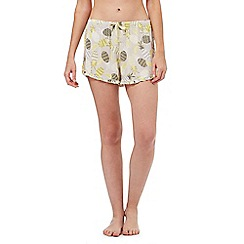Lounge & Sleep - Yellow pineapple print pyjama shorts