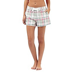 Mantaray - Khaki checked pyjama shorts