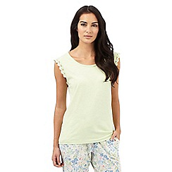 Mantaray - Green cap sleeve pyjama top