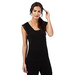 J by Jasper Conran - Black pyjama top