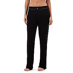 J by Jasper Conran - Petite black lace trim pyjama bottoms