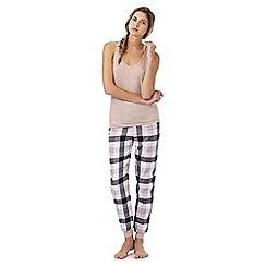 Iris & Edie - Light pink checked print pyjama set