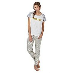 Iris & Edie - Grey 'Flawless' spot print pyjama set