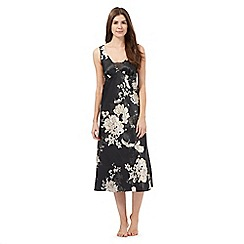 The Collection - Black floral print night dress