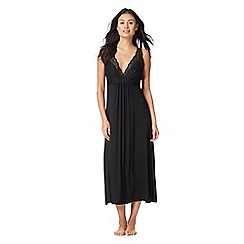 The Collection - Black lace jersey nightdress