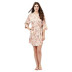 The Collection - Pink satin floral print wrap