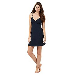 The Collection - Navy jersey night chemise