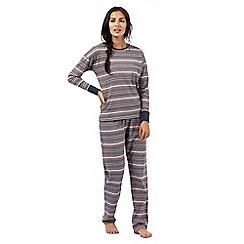Lounge & Sleep - Multi-coloured striped print pyjama set