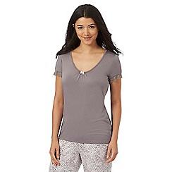 Lounge & Sleep - Light brown jersey pyjama top
