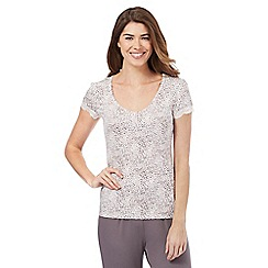 Lounge & Sleep - Light brown leopard print pyjama top