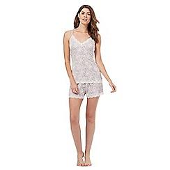 Lounge & Sleep - Light brown leopard print cami and shorts pyjama set