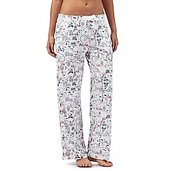 Mantaray - Cream city break print pyjama bottoms