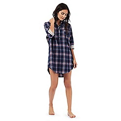 Mantaray - Navy checked print nightshirt