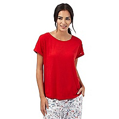 Mantaray - Red plain boxy t-shirt