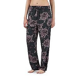 Gorgeous DD+ - Khaki floral print pyjama bottoms