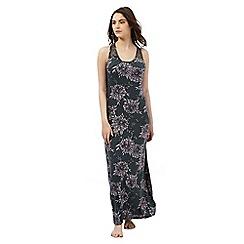 Gorgeous DD+ - Khaki floral print hidden support long chemise