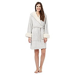 RJR.John Rocha - Cream fur hooded dressing gown