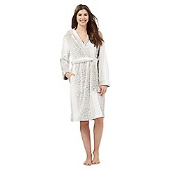 Lounge & Sleep - Brown leopard print dressing gown