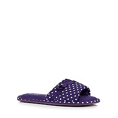 Lounge & Sleep - Purple spotted print mule slippers
