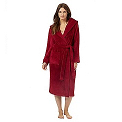 J by Jasper Conran - Dark pink hooded dressing gown