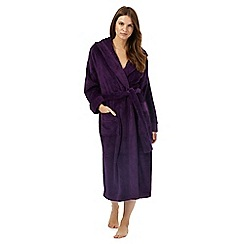 J by Jasper Conran - Purple hooded dressing gown