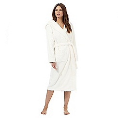 J by Jasper Conran - Cream hooded dressing gown