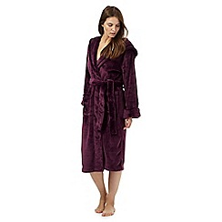 J by Jasper Conran - Dark purple dressing gown